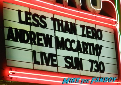 andrew mccarthy marquee for his book signing and q and a at the aero theater in santa monica ca signing autographs