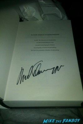Arnold Schwarzenegger signed autograph book photo Total Recall: My Unbelievably True Life Story
