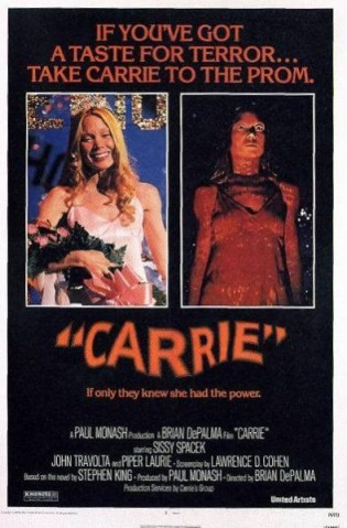 carrie rare promo one sheet movie poster sissy spacek rare promo poster hot