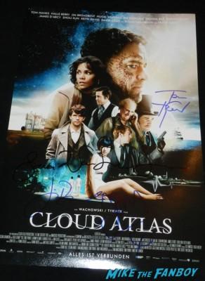 cloud atlas signed autograph promo movie poster lana wachowski tom tywker jim sturgess jim broadbent
