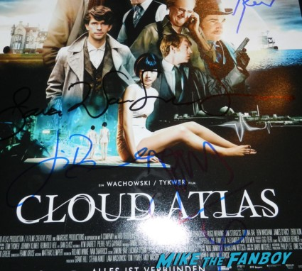 jim sturgess signed autograph cloud atlas mini movie poster promo hot  jim sturgess signing autographs  at the cloud atlas movie premiere cloud atlas movie premiere rare tom hanks halle berry jim broadbent dissing fans rare promo red carpet