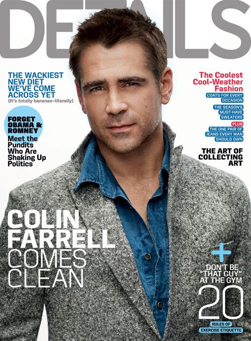 colin farrell hot sexy details magazine november 2012 cover mark seliger photo shoot hot sexy rare promo total recall seven psychopaths