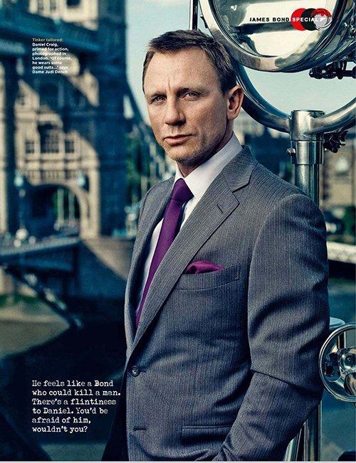 Daniel Craig British GQ magazine november 2012 cover hot sexy skyfall promo james bond tux photo shoot