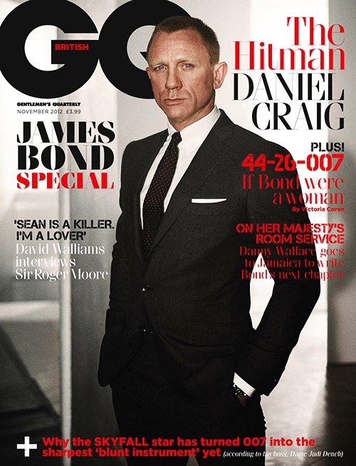 Daniel Craig British GQ magazine november 2012 cover hot sexy skyfall promo james bond tux