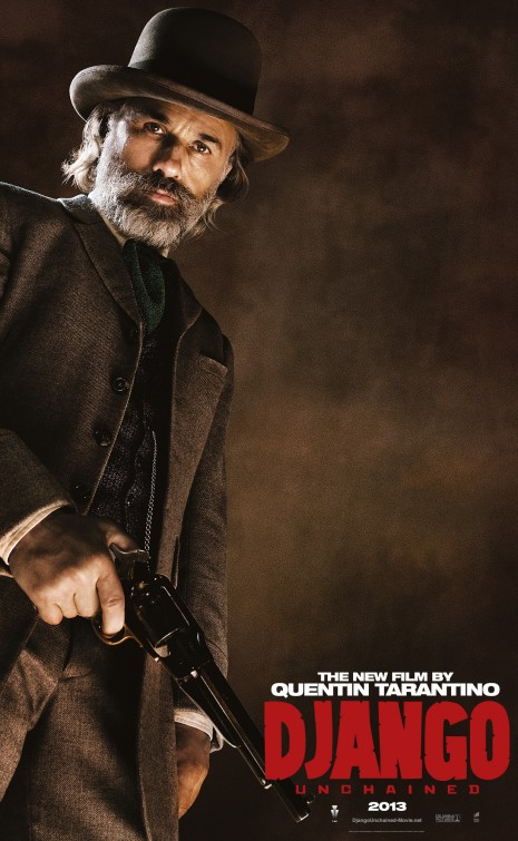 christoph waltz django unchained individual promo movie poster rare character teaser poster promo