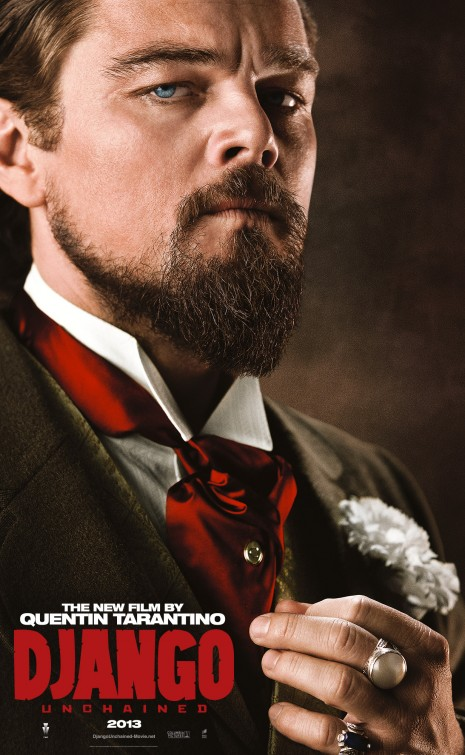 leo dicaprio django unchained individual promo movie poster rare character teaser poster promo