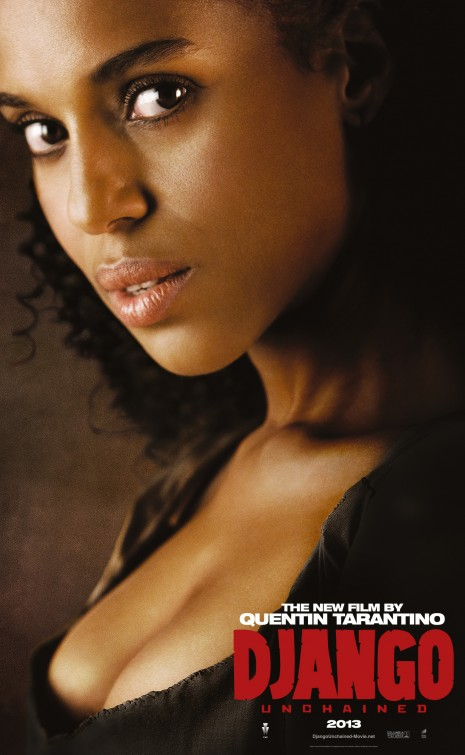 kerry washington django unchained individual promo movie poster rare character teaser poster promo