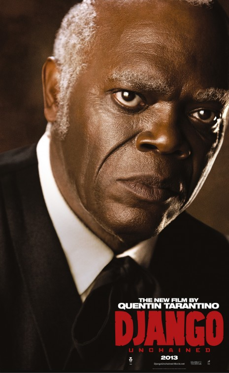samuel l jackson django unchained individual promo movie poster rare character teaser poster promo