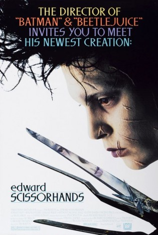 edward scissorhands rare promo one sheet movie poster johnny depp tim burton hot promo poster