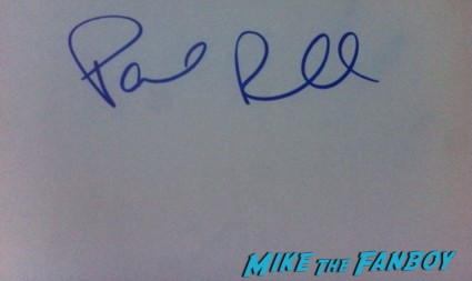 Paul Rudd signed autograph signature index card photo rare promo hot sexy object of my affection star rare