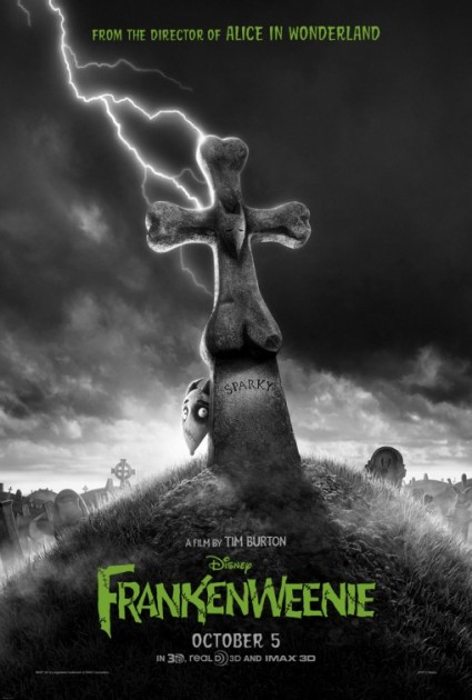 frankenweenie rare promo one sheet movie poster promo hot tim burton animated classic rare hot stop motion animation