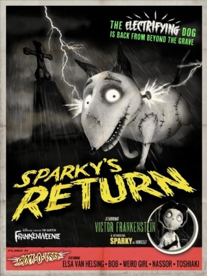 frankenweenie rare promo one sheet movie poster promo hot tim burton animated classic rare hot stop motion animation