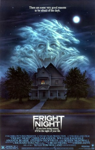 fright night rare promo one sheet movie poster promo hot sexy roddy mcdowell movie poster william ragsdale