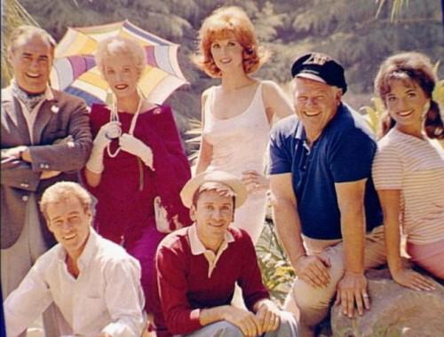 gilligan's island cast photo rare promo press still season 1 cast photo bob denver alan hale dawn wells tina louise natalie schafer