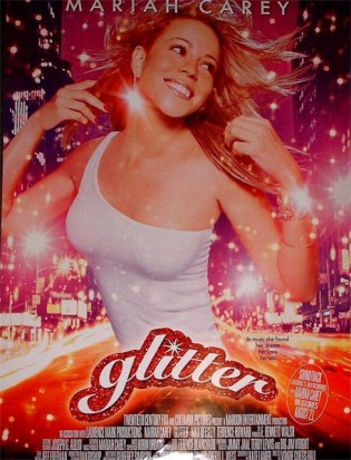 glitter mariah carey promo one sheet movie poster hot sexy songstress biggest bomb ever
