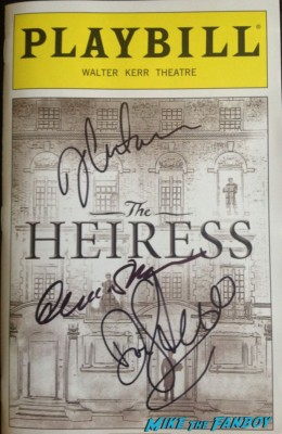 heiress signed autograph broadway playbill jessica chastain dan stevens signature rare promo Dan Stevens signed autograph downton abbey promo poster rare hot sexy british star dan stevens from Downton abbey posing with erica from Mike The Fanboy Downton abbey star dan stevens signing autographs for fans after a performance of heiress on Broadway