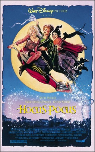 hocus pocus rare promo one sheet movie poster bette midler sarah jessica parker
