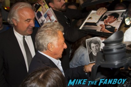 Dustin hoffman signing autographs for fans at the mill valley film festival in san francisco ca rare breaking bad rock of ages