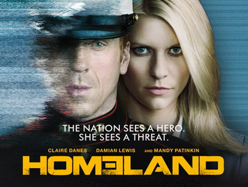Homeland season 2 rare promo poster claire danes damien lewis hot sexy showtime series rare