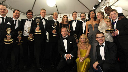 homeland cast at the emmy awards showing off their trophies claire danes damien lewis rare promo homeland showtime series press promo still claire danes under cover promo Homeland season 2 rare promo poster claire danes damien lewis hot sexy showtime series rare