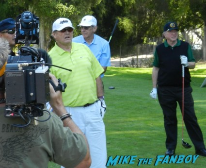 jack nicholson golfing at a charity event signing autographs at the los angeles police family fun day 2012 program rare vin scully