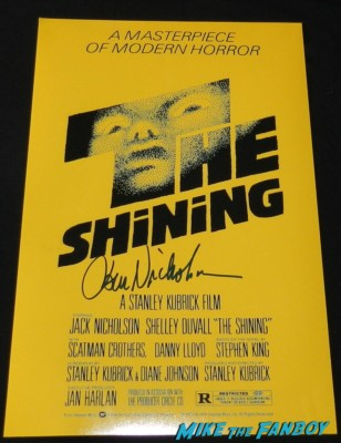 jack nicholson signed autograph the shining promo mini poster rare promo red rum hot sexy jack nicholson signing autographs movie poster