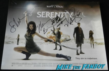 adam baldwin signature autograph signed firefly mini poster uk quad serenity mini movie poster adam baldwin signing autographs at a charity golf tournament signed firefly serenity angel rare promo