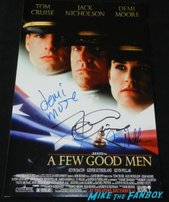 jack nicholson signed autograph a few good men promo mini movie poster tom cruise demi moore rare autograph signed hot rare