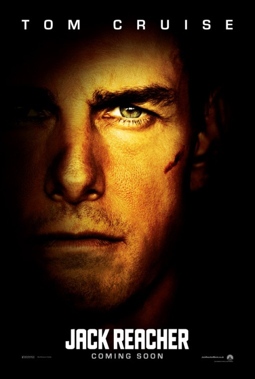 Jack Reacher teaser movie poster rare one sheet promo tom cruise hot sexy new movie 2012 anti hero teaser poster promo hot sexy photo shoot