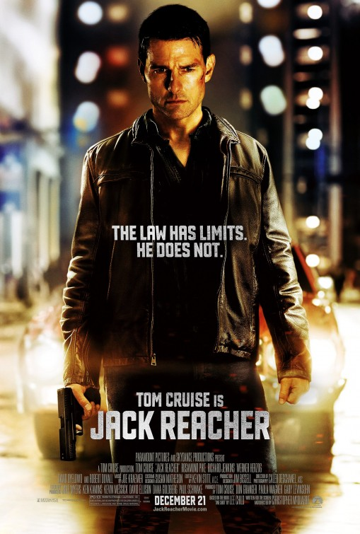 Jack Reacher movie poster rare one sheet promo tom cruise hot sexy new movie 2012 anti hero teaser poster promo hot sexy photo shoot