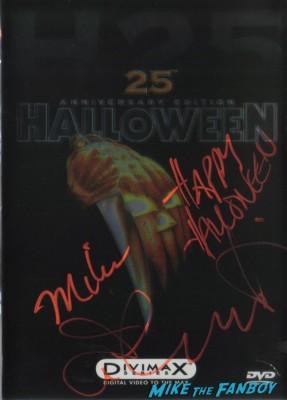 jamie lee curtis signed halloween dvd signature autograph meet jamie lee curtis rare signed halloween dvd cover happy halloween