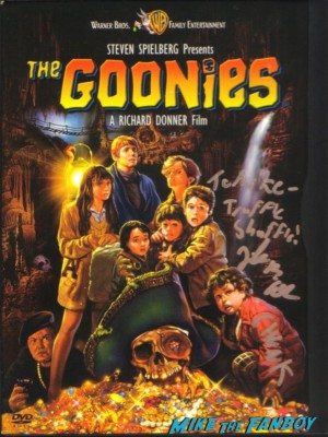 jeff b cohen signed autograph goonies movie poster rare promo signature chunk 1980s teen legend