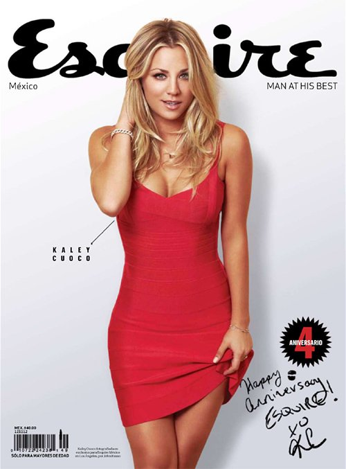 kaley cuoco hot sexy esquire magazine mexico photo shoot rare promo big bang theory penny hottie rare promo sex
