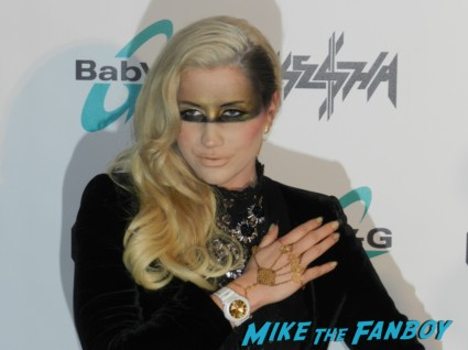 kesha press conference for her new watch line for BAby-g humane society international