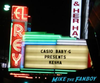 el rey theater marquee ke$ha live in concert los angeles ca rare promo baby-g promo casio