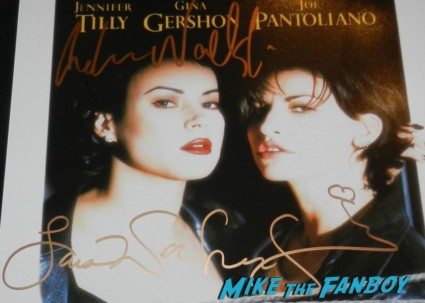 lana and andy wachowski signed autograph bound movie poster rare promo signing autographs rare brother and sister directors Lana and Andy Wachowski brothers