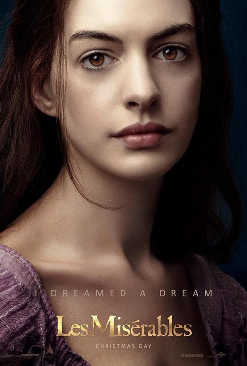 anne hathaway les miserables individual promo movie poster teaser hot sexy rare promo movie poster
