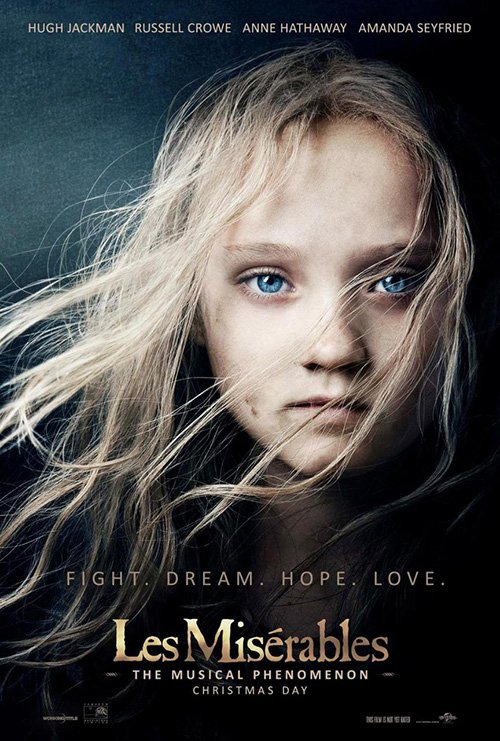 les miserables individual promo movie poster teaser hot sexy rare promo movie poster
