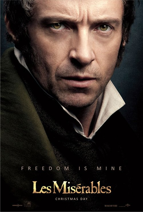 hugh jackman les miserables individual promo movie poster teaser hot sexy rare promo movie poster