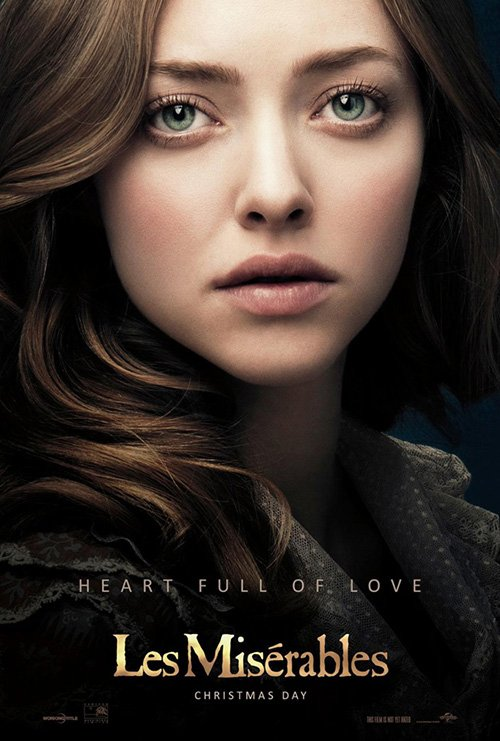 amanda seyfried les miserables individual promo movie poster teaser hot sexy rare promo movie poster