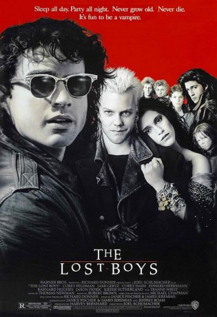 lost boys rare promo one sheet movie poster promo hot sexy jamie gertz keifer sutherland