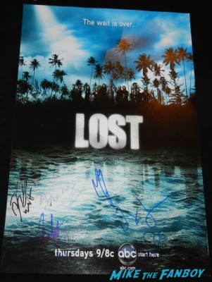 matthew fox signed lost promo mini movie poster rare hot  the complete collection box set booklet rare promo signed autograph rare promo
