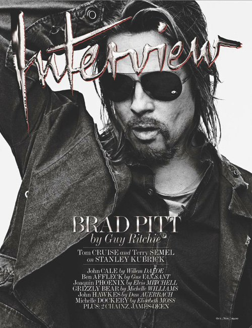 Brad Pitt interview magazine cover november 2012 hot sexy photo shoot rare costume disguise killing them softly hot promo photo