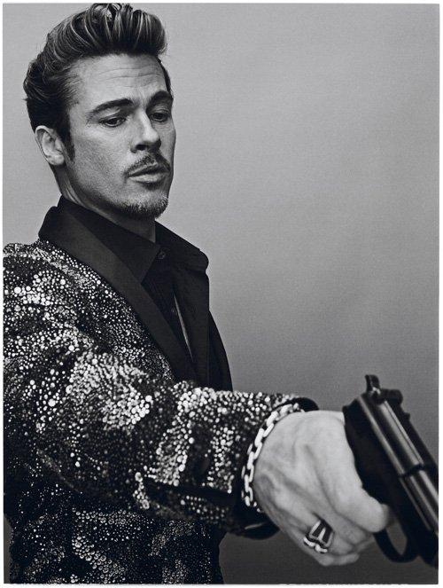 Brad Pitt interview magazine cover november 2012 hot sexy  photo shoot rare costume disguise killing them softly hot promo photo