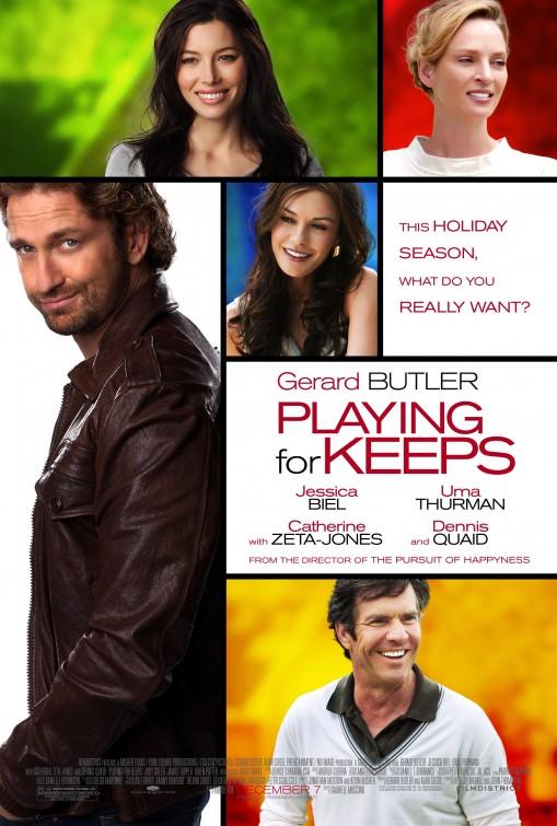 Playing for keeps rare one sheet movie poster promo us movie poster gerard butler uma thurman catherine zeta jones dennis quaid