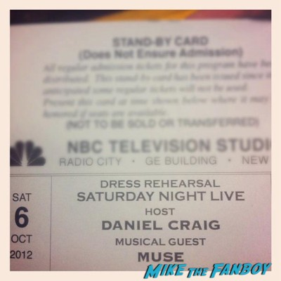 elisa's saturday night live ticket stand by line rare promo daniel cragi on saturday night live