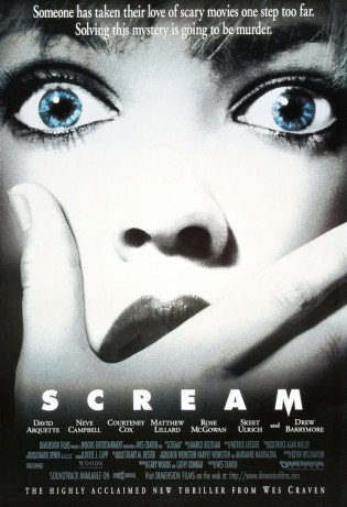 scream rare promo movie poster one sheet wes craven neve campbell matthew lillard