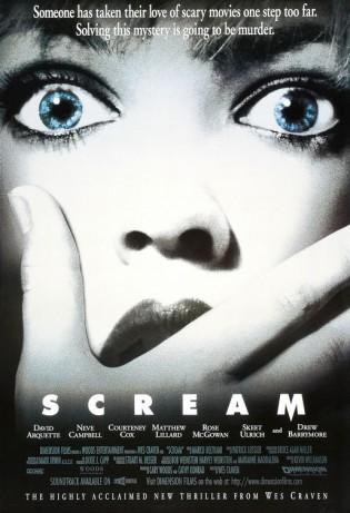 scream rare promo movie poster one sheet wes craven neve campbell matthew lillard