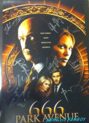 666 park avenue cast signed autograph promo poster nycc new york comic con terry o'quinn vanessa williams dave annabel