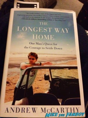 andrew mccarthy the long way home signed autograph book rare promo book cover dust jacket rare